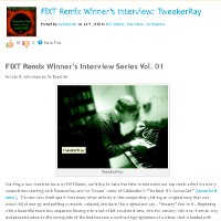 1st Place Winner ReMix of Celldweller: TBIGG (TweakerRay Dream ReMix) / Interview at FiXT